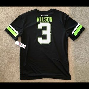 NFL Shirts - Seattle Seahawks Russell Wilson Shirt Size Large